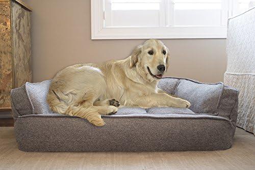 Arlee 59-40260DRZ Memory Foam Memory Foam Sofa Style Pet Bed, Small Medium, Walnut Tan