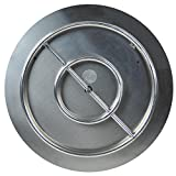 Cheap Dreffco The Original 22″ Stainless Steel Fire Pit Burner Pan with Stainless Steel Ring NG or LP