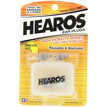 hearos high fidelity series ear plugs for comfortable long term use with free case. Black Bedroom Furniture Sets. Home Design Ideas