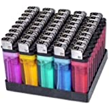 100 Cigarette Lighters Disposable Classic Lighter - Wholesale Pack Lot by MegaDeal
