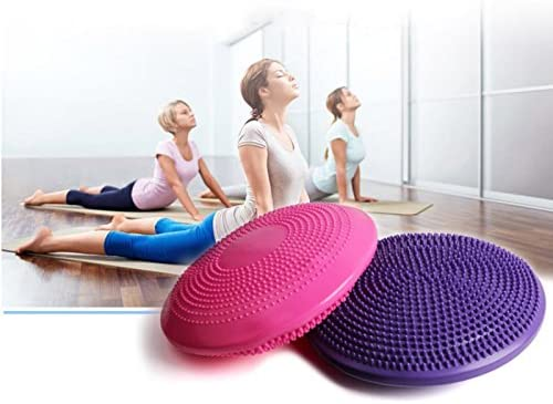 Hankyky Yoga Cushion Mat, PVC Thicken Inflatable Balance ...