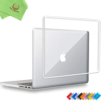 """Ueswill Marble Pattern Smooth Hard Case Cover For Mac Book Pro 15"""" With Retina Display (No Touch Bar, No Cd Rom) Model A1398 + Microfibre Cleaning Cloth, (Black/White) by Ueswill"""