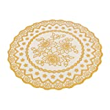 uxcell Rubber Round Wave Flower Lace Pattern Table Protector Pot Cup Mat Pad