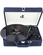 D&L 7-in-1 Turntable with Bluetooth, Three Speed 33/45/78 Record Player, USB Play and Encoding, 3.5mm AUX IN, 3.5mm Headphone Jack, Custom Built-in Stereo Speaker