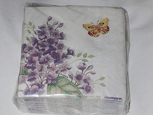 Lenox Orange Sulphur Butterfly Meadow by CR Gibson Cocktail Beverage Napkins 40 (Butterfly Beverage Napkins)