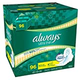 6 Wholesale Lots Always Ultra Thin Regular with Flexi Wings, 576 Pads Total