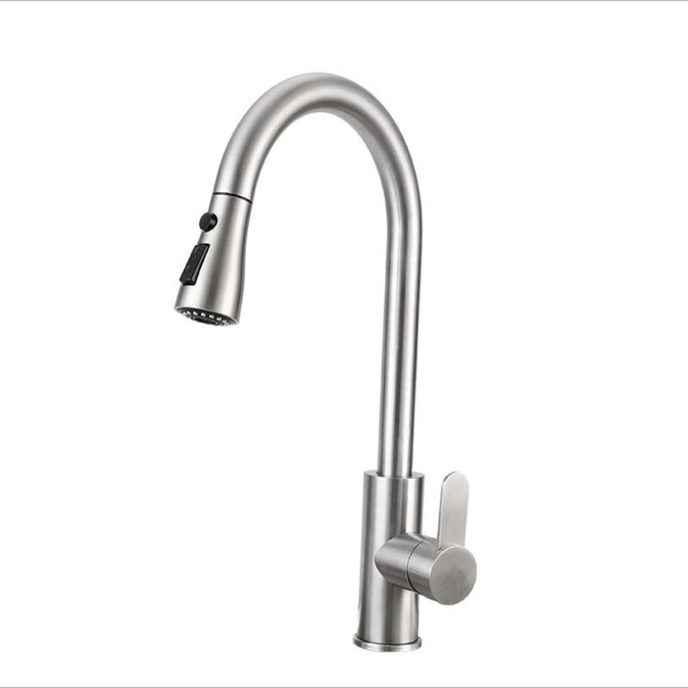 F.A.N.G.YUN Kitchen Faucet, Lead-Free redating Hot And Cold Pull Kitchen Faucet 304 Stainless Steel Sink Sink Faucet