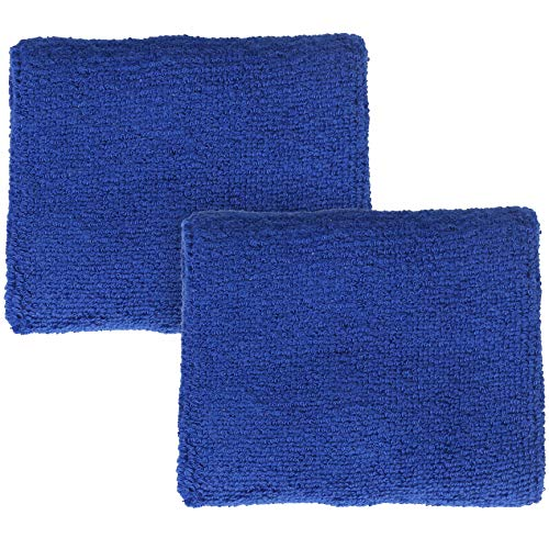 Fun and Functions Terrycloth Chewy Wristband for Children - Set of 2, Blue - Help Kids with Sensory Processing and Sensory Motor Needs - for Moderate Chewers - Extremely Absorbent