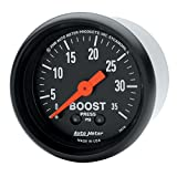 "Auto Meter 2616 Z-Series 2-1/16"" 0-35 PSI Mechanical Boost Gauge"
