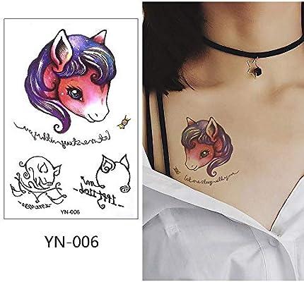 adgkitb 5pcs Tatuaje Temporal Pegatina Animales Arte Impermeable ...