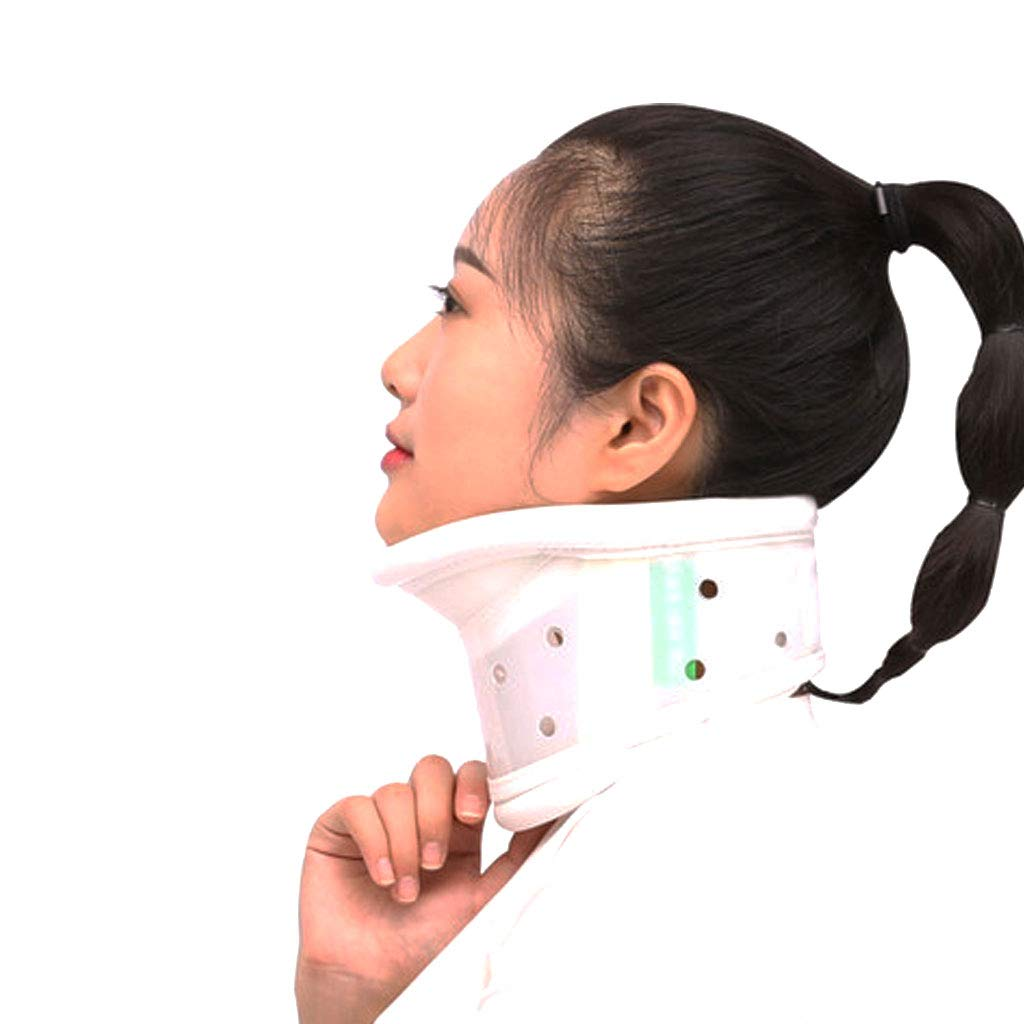 DONGBALA Cuello Collar de tracci/ón Cervical Soporte Fijo Altura Ajustable para el Dolor de Cuello V/értebra Cervical Correcci/ón Transpirable