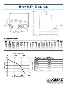 Little Giant 505025 5-MSP 115 Volt 1200 GPH Utility Pump