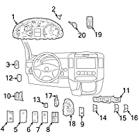 Mopar 6802 1566AB, Remote Control Transmitter for Keyless Entry and Alarm System