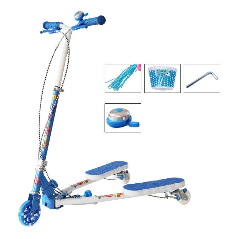 男女兼用 スクーターを蹴る子供たち 三輪車、シザー車、スイングカー 青)、カエルスクーター : (色 : (色 青) B07R58G234 青, 白糠町:c0f1357a --- 4x4.lt
