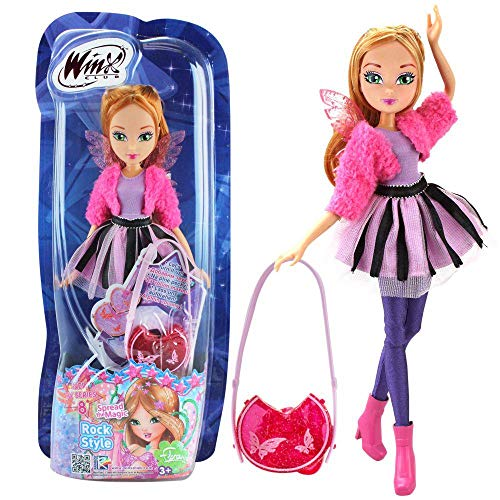 Rainbow Internazionale Winx Club Doll Flora Rock Style Figure 28cm New Tv Series 8 +3 Years