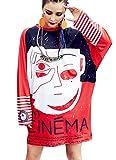 RwalkinZ Girls Street Hippie Hip Hop Loose Boyfriend Shirt Dress Naughty Comic Graffiti