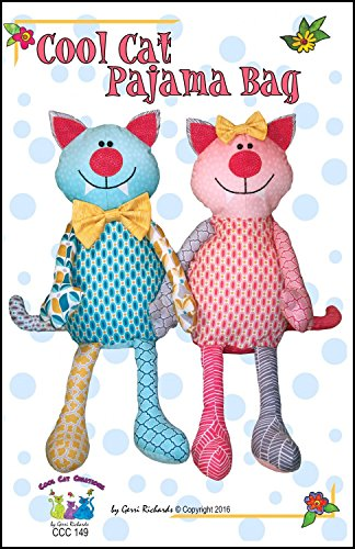 Cat Pattern - Cool Cat Pajama Bag - PATTERN ONLY!
