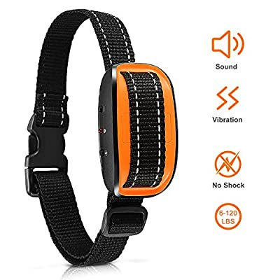 Bark Collar [New Version] Humanely Stops Barking with Sound and Vibration. NO SHOCK, Harmless and Humane. Small Dog Bark Collar, Medium Dog Bark Collar