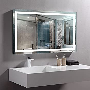 Decoraport 40 x 24 in Horizontal LED Bathroom Mirror with Anti-Fog Function (DK-A-CK010-W2)
