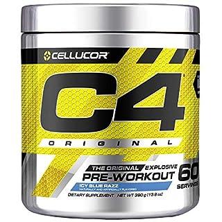 C4 Original Pre Workout Powder ICY Blue Razz  Vitamin C for Immune Support   Sugar Free Preworkout Energy for Men & Women   150mg Caffeine + Beta Alanine + Creatine   60 Servings