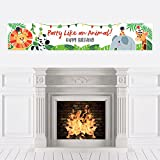 Big Dot of Happiness Jungle Party Animals - Safari Zoo Animal Birthday Party Decorations Party Banner