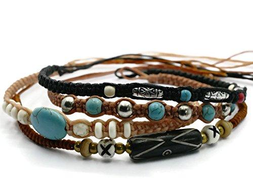BrownBeans, Macrame Cord Reggae Summer Casual Wear Anklet Bracelet (CBCT7000) (G)