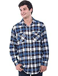 Del Rossa Mens Flannel Shirt, Long Sleeve Cotton Top
