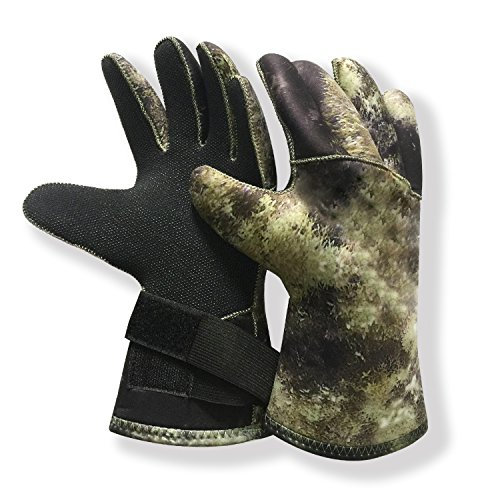 MYLEDI 3mm Neoprene Durable and Flexible Scuba Diving and Spearfishing Gloves (MY081 CAMO, L)