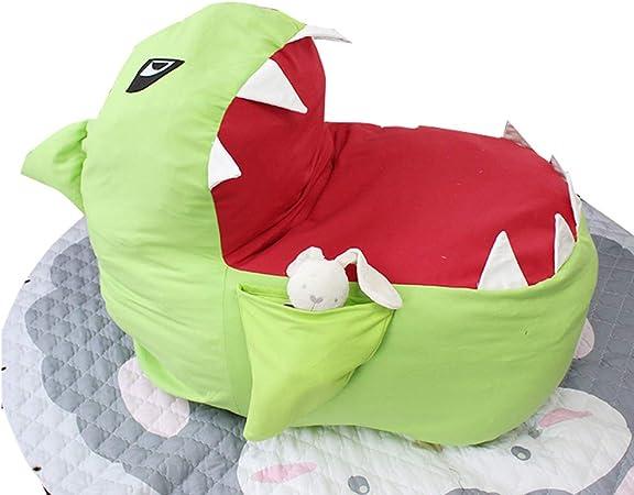 Youngshion adorabile 3D a forma di animale Charpie Stuffed Storage Bean Bag squalo bocca sedia per bambini di peluche vestiti Quilts organizer dormire divano Blue