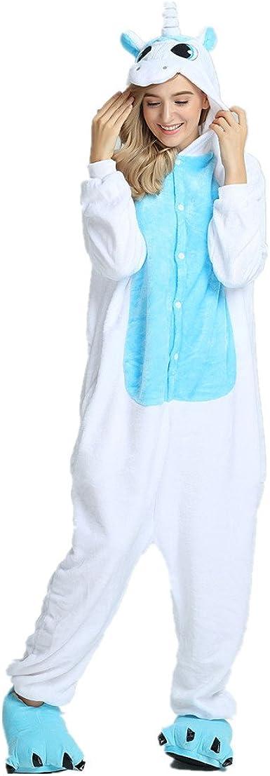 Rainbow Fox Adultos Unicornio pijama con alas Cosplay disfraz Animal Ropa de dormir Franela Novedad ropa