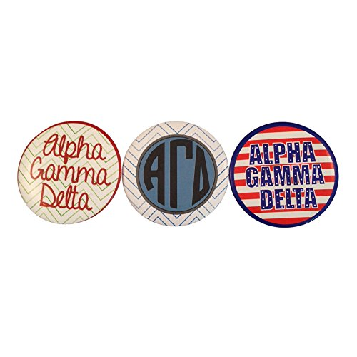 Alpha Gamma Delta Sorority Variety of 2 Inch Round Pinback Buttons (3 Different Buttons) Alpha Gam