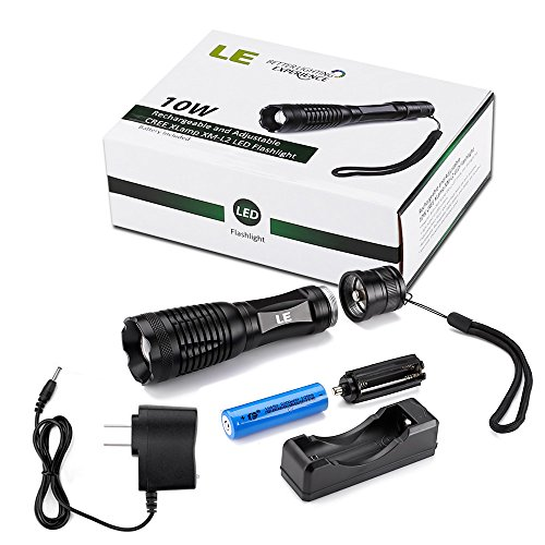 le 174 1000lm rechargeable cree xm l2 t6 led flashlight portable zoomable 5 light modes 10w