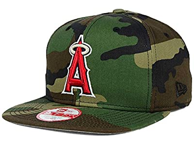 New Era 9Fifty MLB Cap Los Angeles Angels of Anaheim State Clip Snapback Woodcamo Hat