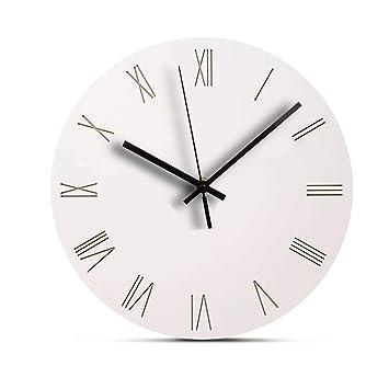 . Amazon com  Jpettie Silent Modern Wall Clocks Battery Operated  No