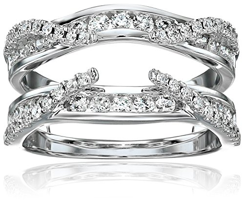 14k White Gold Diamond Solitaire Enhancer Ring (3/4cttw, I Color, I2 Clarity), Size 6 by Amazon Collection