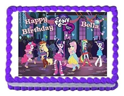 Image Unavailable Not Available For Color MY LITTLE PONY Equestria Girls Edible Cake Topper