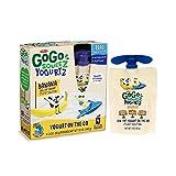 GoGo squeeZ YogurtZ, Banana, 3 Ounce (4 Pouches), Low Fat Yogurt, Gluten Free, Healthy Snacks, Reusable, BPA Free Pouches
