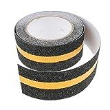 B Blesiya Floor Stair Anti Slip Tape Anti Skid Safety Tape Roll Non Slip Sticker Strip - Black with reflective