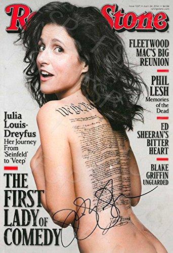 Julia Louis Dreyfuss Autograph Replica Poster Print - Rolling Stone Magazine