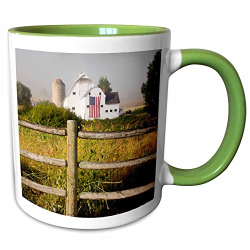3dRose Danita Delimont - Barns - McPolin-Osguthorpe Barn in Park City, Utah, USA - US45 BJN0010 - Brian Jannsen - 11oz Two-Tone Green Mug - Park 11 City 7 Utah