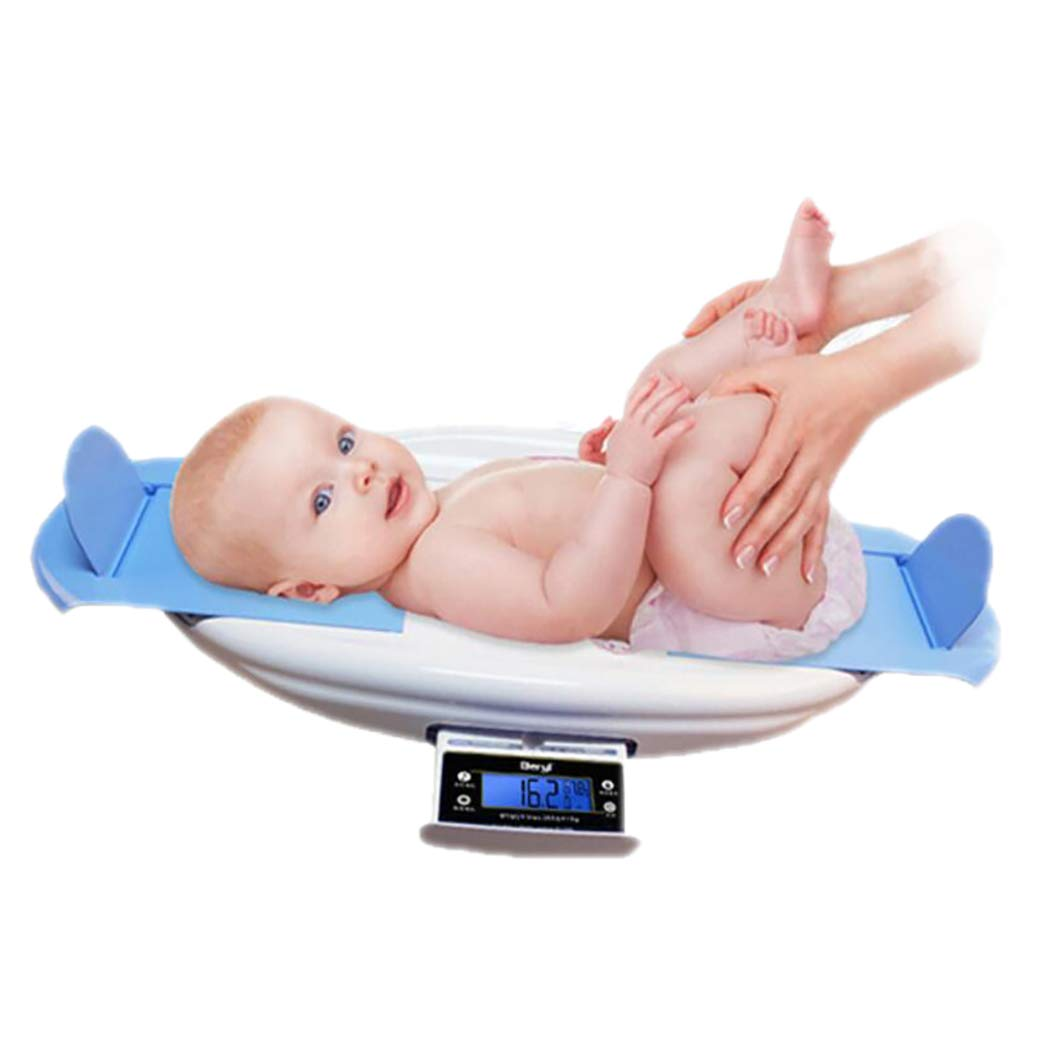 DPPAN Digital Baby Scale, Multi-Function Height Measurement Infant Scale with Music, Max Capacity 30 kg/66lb, Precision 5g,Blue by DPPAN