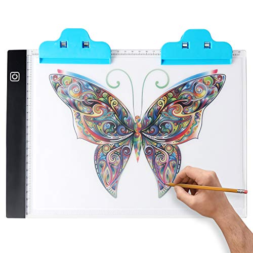 MEYUEWAL A4 Light Tracing Table, Ultra-Thin Portable LED Light Box USB Charge Dimmable Brightness Artcraft Tracing Light Pad for Diamond Paint Artists Drawing Sketching
