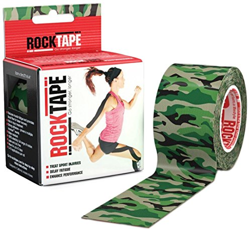 Rocktape Kinesiology Tape for Athletes (Green wood Camouflage, 2-Inch x - Green Camouflage