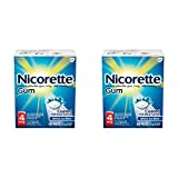 Nicorette Nicotine Gum to Stop Smoking, 4mg, White Ice Mint, 160 count (Pack of 2)