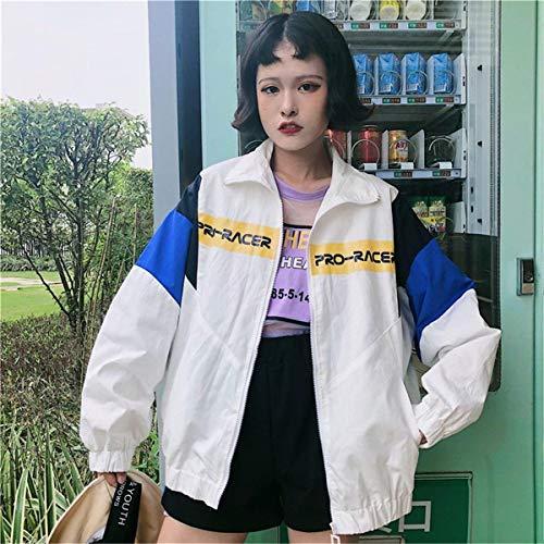 Lunga Digitale Cappotto Jacket Sciolto Bianca Cucitura Cute Giaccone Autunno Donna Elegante Casual Stampate Moda Sottile Giacca Outwear Leggero Manica Mare Chic Primaverile AwwY8q4vx