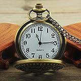Hemobllo Vintage Pocket Watch Quartz Dolphin