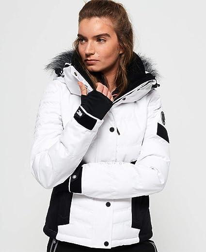Superdry Snow Puffer Blouson Femme, Optic, 42: