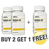 WINN50 ***Buy 2 Get 1 Free*** Fat Burner, Metabolism Booster, Promotes Faster Muscle Recovery, Increase Strength and Endurance Without Excessive Weight Gain - 3 Month Supply