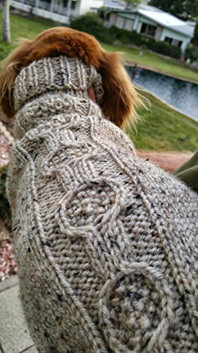 Lena's Easy Banjo Cable Miniature Dachshund Sweater