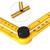 Angle Measurement Tool /Angle Ruler/Angle Finder/Angle-izer Template Tool Finder Ruler/Index Card with All Angles and Shapes for Craftsmen Handymen Builders Carpenter DIY(3pack)